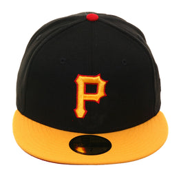 Exclusive New Era Pittsburgh Pirates Hat - 2T Black, Gold, Red