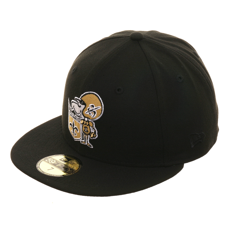 Exclusive New Era 59Fifty New Orleans Saints 1967 Hat - Black – Hat Club cd28baefe19