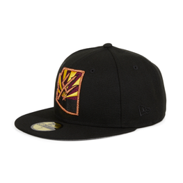 Exclusive New Era 59Fifty Arizona State University Flag State Hat - Black