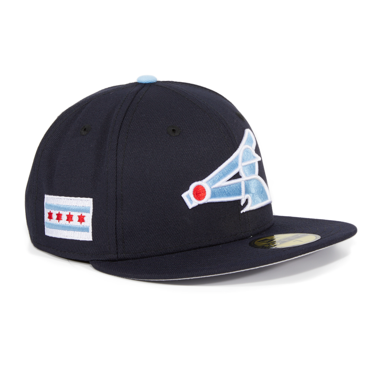 61860b60954 Exclusive New Era 59Fifty Chicago White Sox City Flag Patch Hat - Navy – Hat  Club