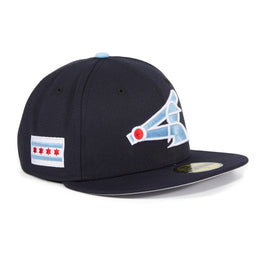 Exclusive New Era 59Fifty Chicago White Sox City Flag Patch Hat - Navy