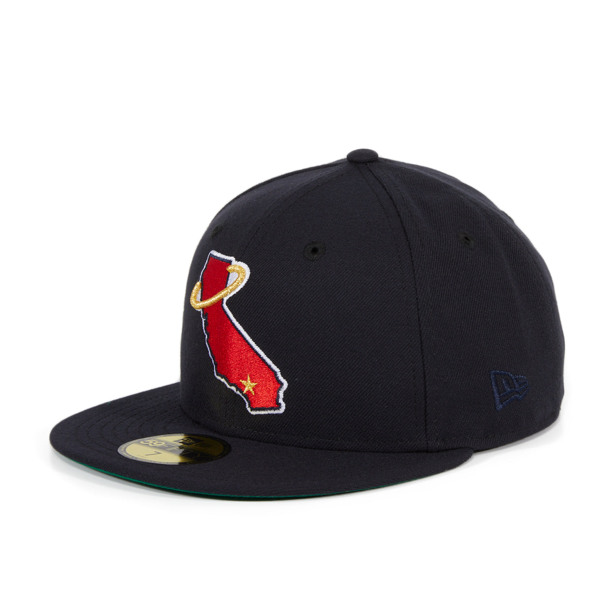 Exclusive New Era 59Fifty Los Angeles Angels State Hat - Navy. Red
