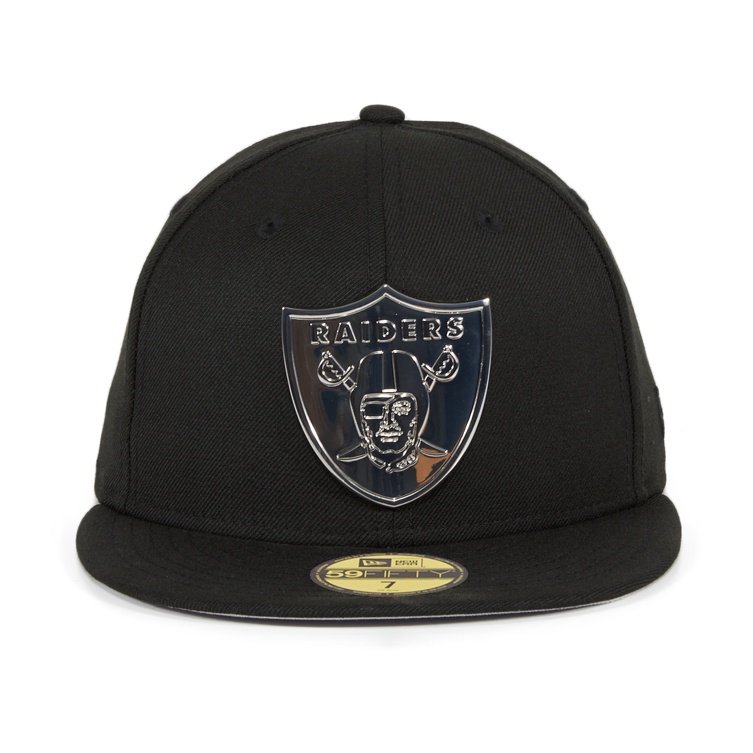 fdaf2efc42b Exclusive New Era 59Fifty Oakland Raiders Metal Emblem Hat - Black ...