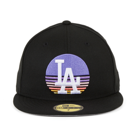 Exclusive New Era 59Fifty Los Angeles Dodgers Sunset Hat - Black