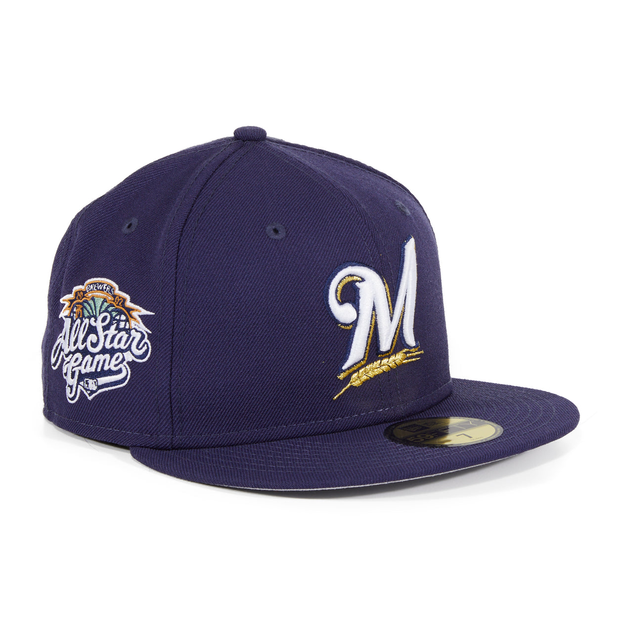 Exclusive New Era 59Fifty Milwaukee Brewers All Star Game 2002 Patch Hat - Navy