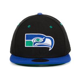 Exclusive New Era 9Fifty Seattle Seattle Seahawks 1976 Hat - 2T Black, Royal