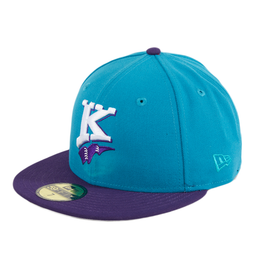Exclusive New Era 59Fifty Charlotte Knights 1994 Hat - 2T Teal, Purple