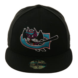 Exclusive New Era 59Fifty Greensboro Bats Hat - Black