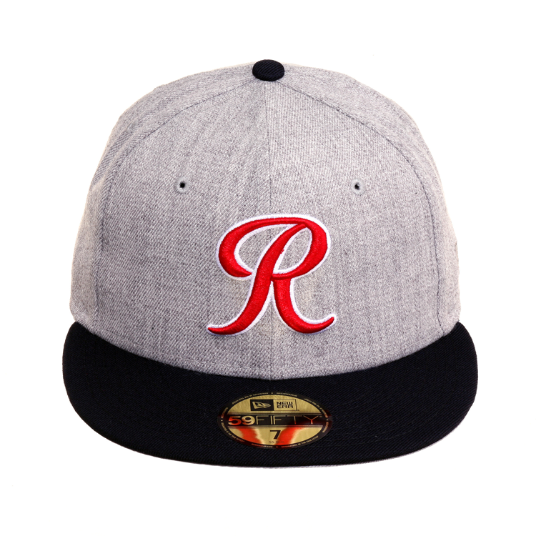 Exclusive New Era 59Fifty Tacoma Rainiers Hat - 2T Heather Gray, Navy, Red