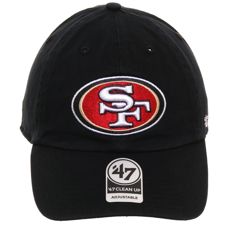 47 Brand Cleanup San Francisco 49ers OTC Adjustable Hat - Black