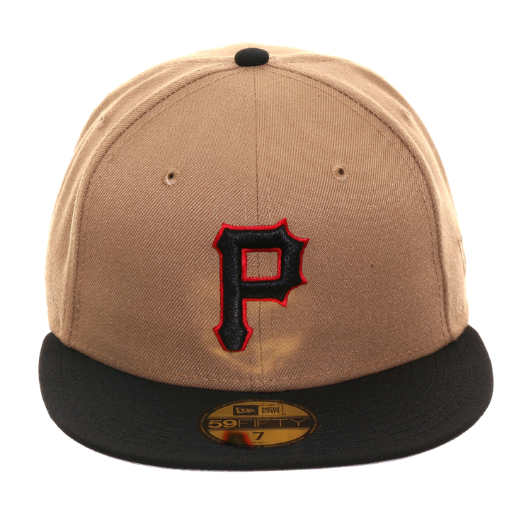 Exclusive New Era 59Fifty Pittsburgh Pirates Hat - 2T Khaki 03938b753e27
