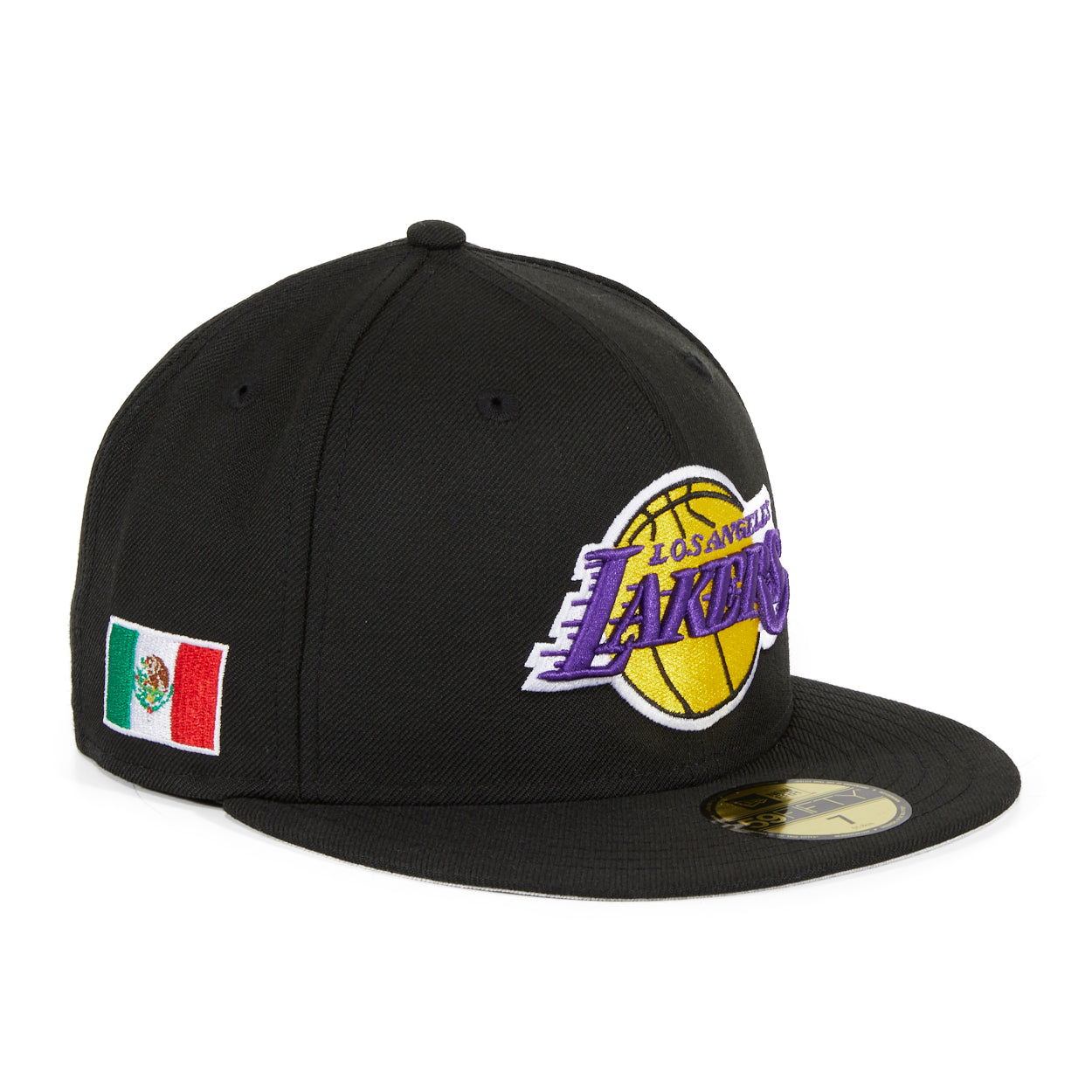 new style new photos newest collection Exclusive New Era 59Fifty Los Angeles Lakers Mexico Flag Patch Hat ...