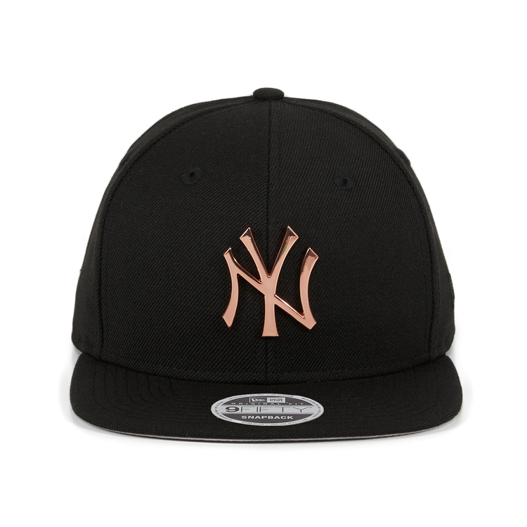 d990354be42 Exclusive New Era 9Fifty Metal New York Yankees Snapback Hat - Black ...