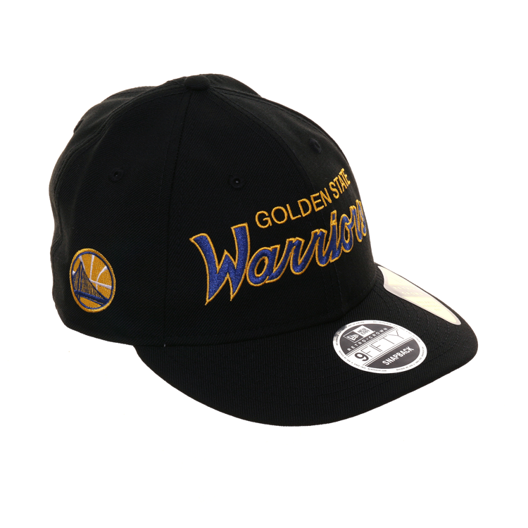 New Era 9fifty Golden State Warriors Retro Crown Snapback Hat - Black, Royal, Gold