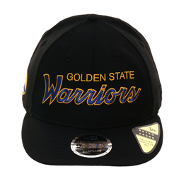 online store 9f364 2df9a ... best price new era 9fifty golden state warriors retro crown snapback hat  black royal gold d33d1
