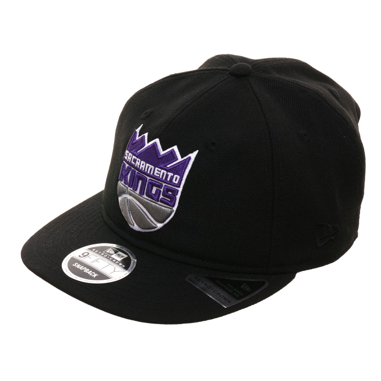 Exclusive New Era 9Fifty Sacramento Kings Retro Crown Snapback Hat - Black