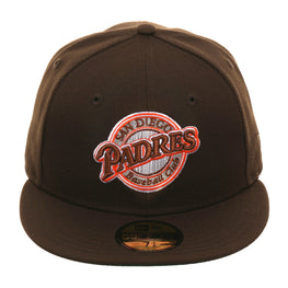 Exclusive New Era 59Fifty San Diego Padres 1990 Logo Hat - Brown