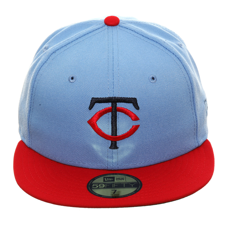 new products 7ae1d 1681c Exclusive New Era 59Fifty Minnesota Twins Hat - 2T Light Blue, Red