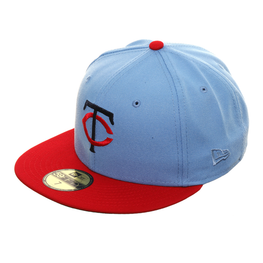 Exclusive New Era 59Fifty Minnesota Twins Hat - 2T Light Blue, Red