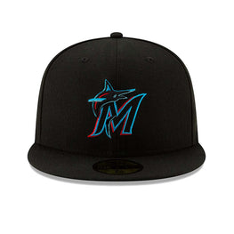 New Era 59Fifty Authentic Collection Miami Marlins Game Hat - Black