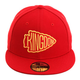 Exclusive New Era 59Fifty Kansas City Chiefs Kingdom Fitted Hat - Red, Gold