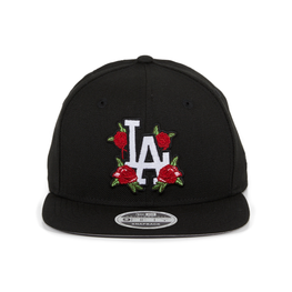 Exclusive New Era 9fifty Los Angeles Dodgers Rose Floral Snapback Hat -  Black c85c1c264d50