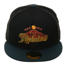 Exclusive New Era 59Fifty Tacoma Rainiers 1995 Hat - 2T Black, Green, Cardinal
