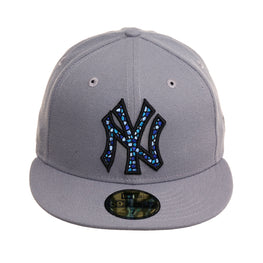 Exclusive 59Fifty New York Yankees Mosaic Hat - Storm Gray, Light Blue