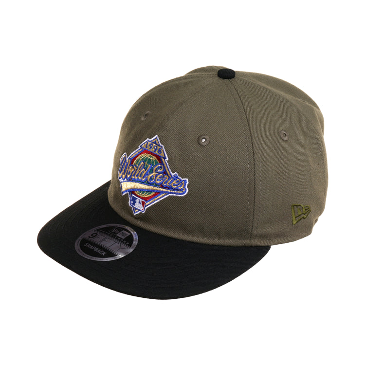Exclusive New Era 9Fifty World Series 1996 Retro Crown Snapback Hat - 2T Olive, Black