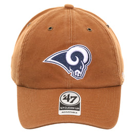 47 Brand Cleanup Los Angeles Rams Carhartt Adjustable Hat - Brown