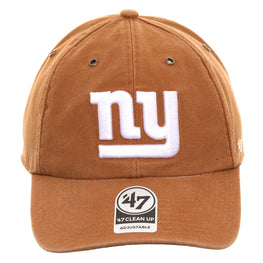 47 Brand Cleanup New York Giants Carhartt Adjustable Hat - Brown