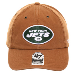 47 Brand Cleanup New York Jets Carhartt Adjustable Hat - Brown