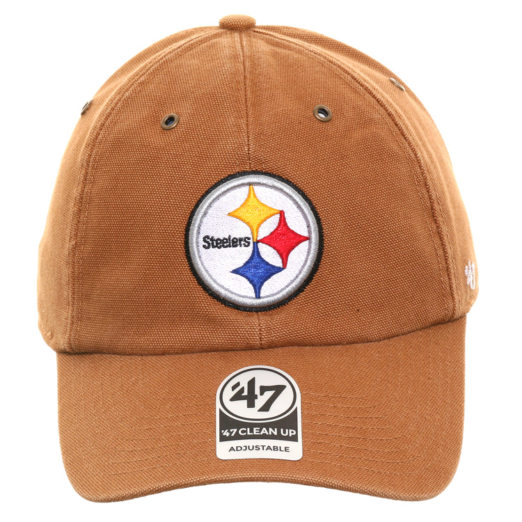 47 Brand Cleanup Pittsburgh Steelers Carhartt Adjustable Hat - Brown
