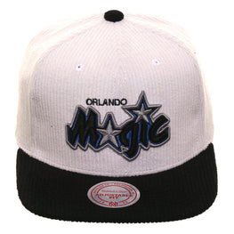 Mitchell & Ness Orlando Magic Corduroy Script Snapback - 2T White, Black