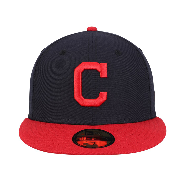 Authentic Collection New Era 59Fifty Cleveland Indians Home Hat - Navy