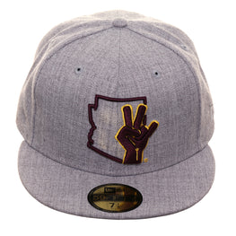 brand new 7404e d2ef8 Exclusive New Era 59Fifty ASU Shock Hat - Heather