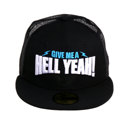 WWE New Era 59Fifty Stone Cold Hell Yeah Mesh Hat - Black
