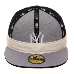 Exclusive New Era 59Fifty New York Yankees Rally Cap Game Hat - Navy