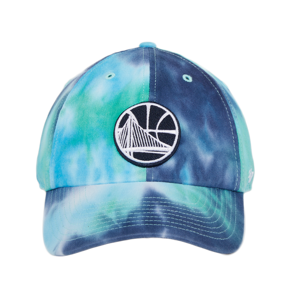 47 Brand Cleanup Golden State Warriors Marbled Adjustable Hat - Navy, Teal