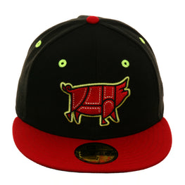 Exclusive New Era 59Fifty Columbia Chicharrones Hat - 2T Black, Red