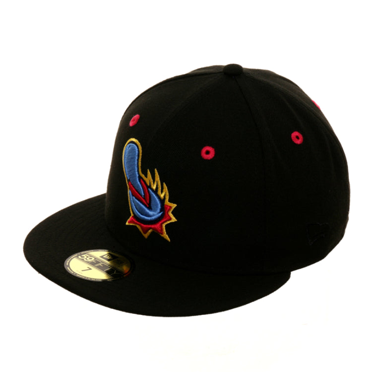 Exclusive New Era 59Fifty San Antonio Missions Flying Chanclas Alternate Hat - Black