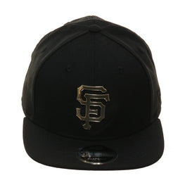 Exclusive New Era 9fifty San Francisco Giants Metal Logo Snapback Hat - Black, Metallic Gold