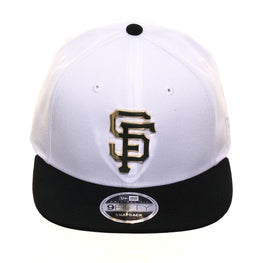 Exclusive New Era 9fifty San Francisco Giants Metal Snapback Hat - 2T White, Black, Metallic Gold