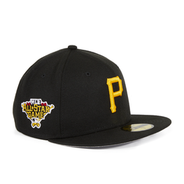 Exclusive New Era 59Fifty Pittsburgh Pirates 2006 All Star Game Patch Hat - Black