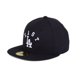 Exclusive 59Fifty Los Angeles Dodgers East LA Arch Hat - Navy, White