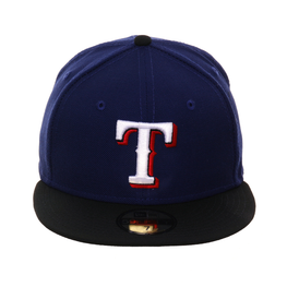 Exclusive New Era 59Fifty Texas Rangers Hat - 2T Royal, Black