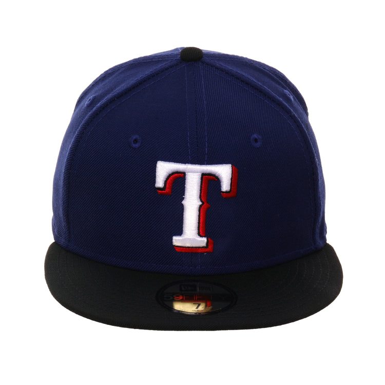 new products a468b 89c2a Exclusive New Era 59Fifty Texas Rangers Hat - 2T Royal, Black – Hat Club