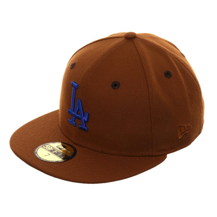 Exclusive 59Fifty Los Angeles Dodgers Hat - Khaki, Royal
