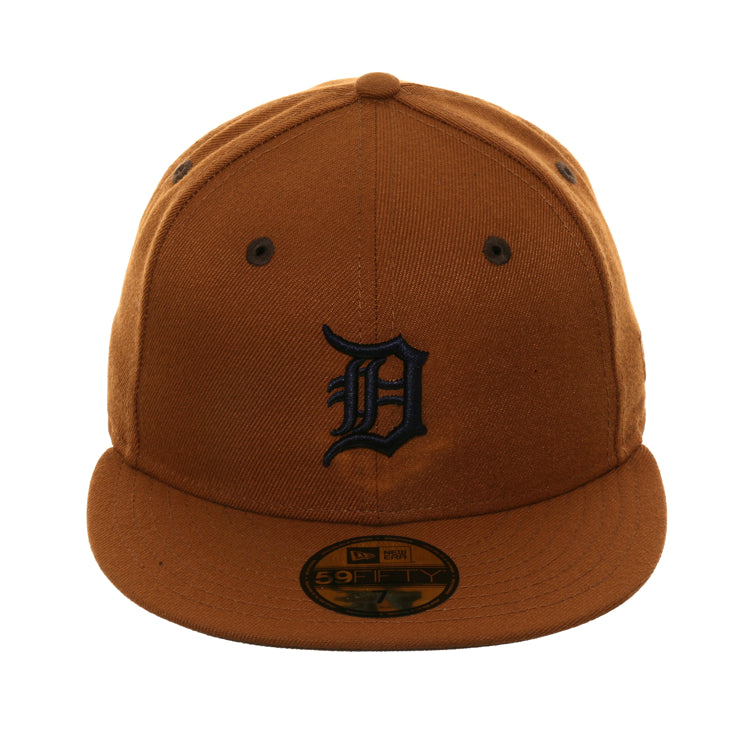 Exclusive New Era 59Fifty Detroit Tigers Hat - Khaki, Navy