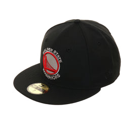 reputable site 07b00 5f9c8 Exclusive New Era 59Fifty Golden State Warriors Hat - Black, Gray, Red